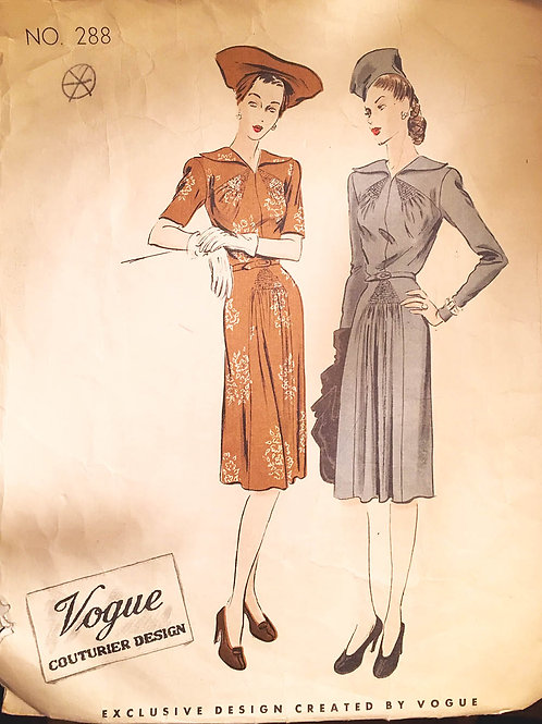 Vogue Couturier 288 two retro dresses from 1940s