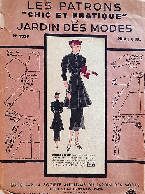 Jardin Des Modes 9529. Tres Chic 1930s Ladies suit