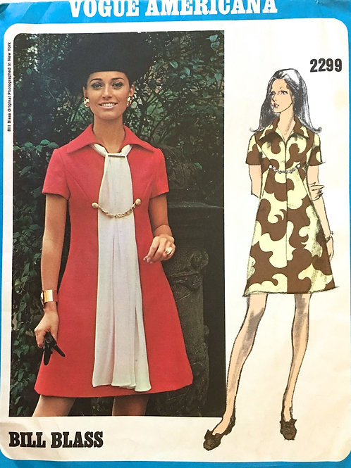 Vogue 2299 Bill Blass 1970s dress