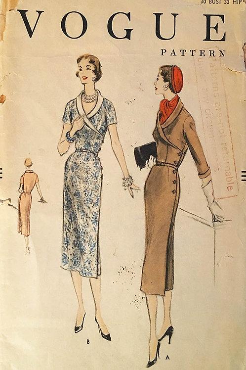 Vogue 8543. Retro Fifties wiggle style dress