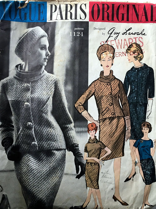 Vogue Paris Original 1121 Guy LaRoche Jacket,skirt,top