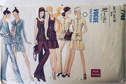 Vogue 7748 circa 1970s Separates.