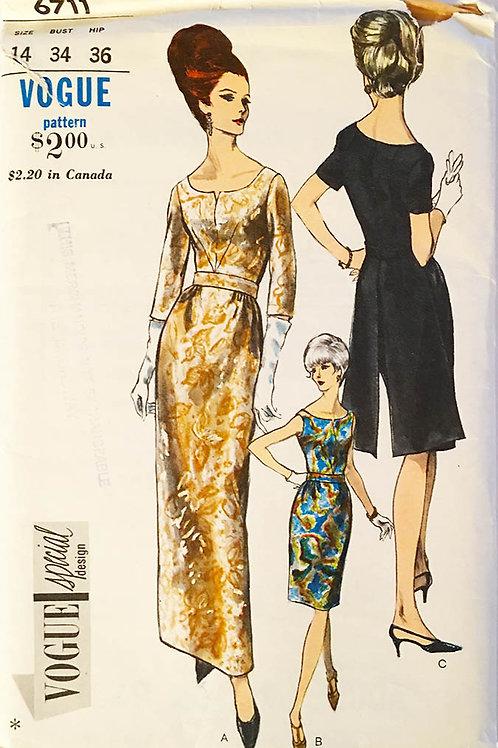 Vogue Special Design 6711 retro evening dress/gown.