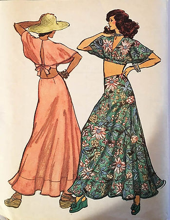 Groovy 70s fashion at More Retro Patterns