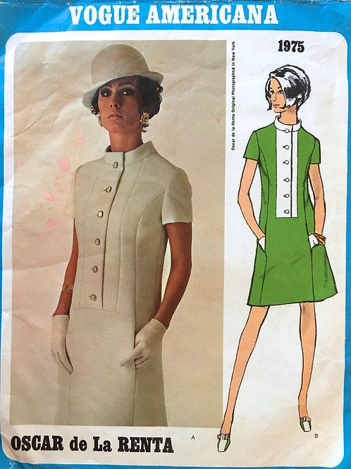 Vogue Americana 1975. retro sixties Oscar de la Renta
