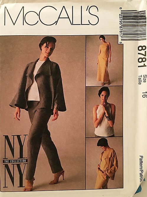 McCall's 8781 New York Collection Separates