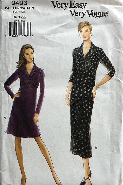 Vogue 9493 Empire waist dresses