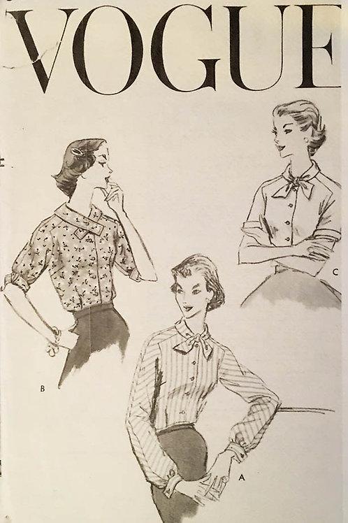 Vogue 8992. Vintage 1956 Blouses patterns