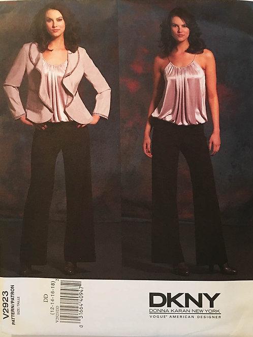 Vogue Designer 2923. Donna Karan Jacket, camisole and pants