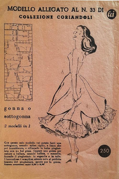 Modello Allegato no. 33 Full slip and petticoat.