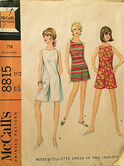 McCall's 8815. Ladies or junior 1970s romper