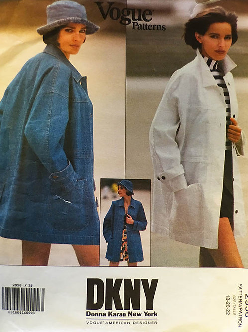 Vogue 2958 DKNY jean or workman jacket