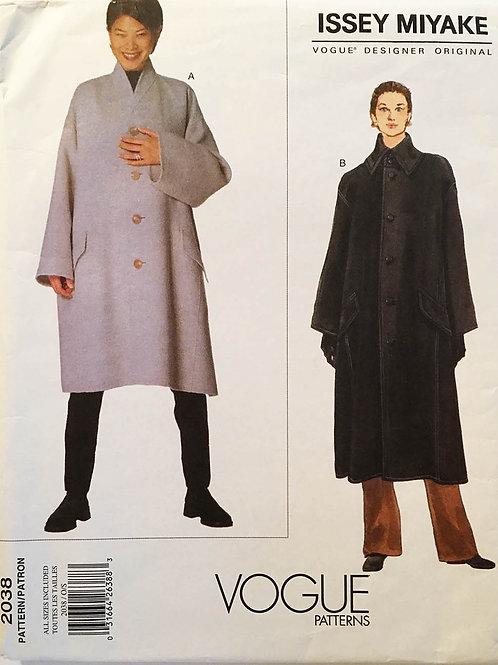 Vogue Individualist 2038, Issey Miyake. RARE coat pattern.