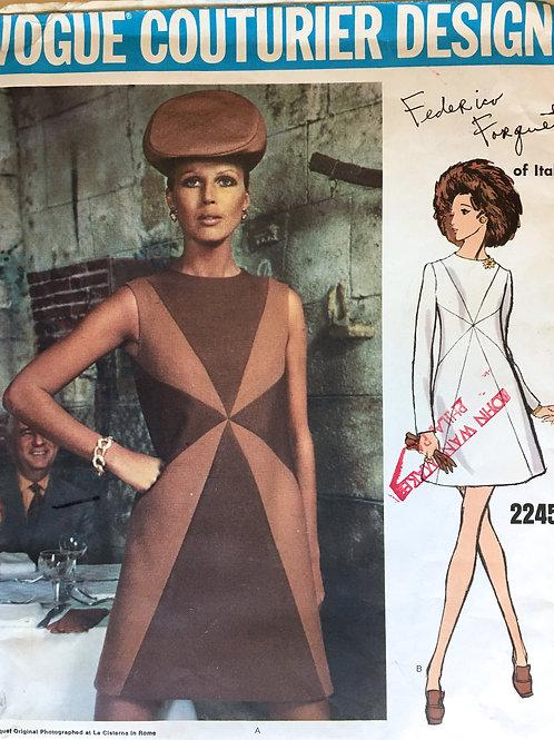 Vogue Couturier 2245. Federico Forquet. Super Mod!