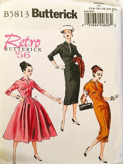 Butterick B5813. Re-issue 1956 design. Mad Men wiggle dress