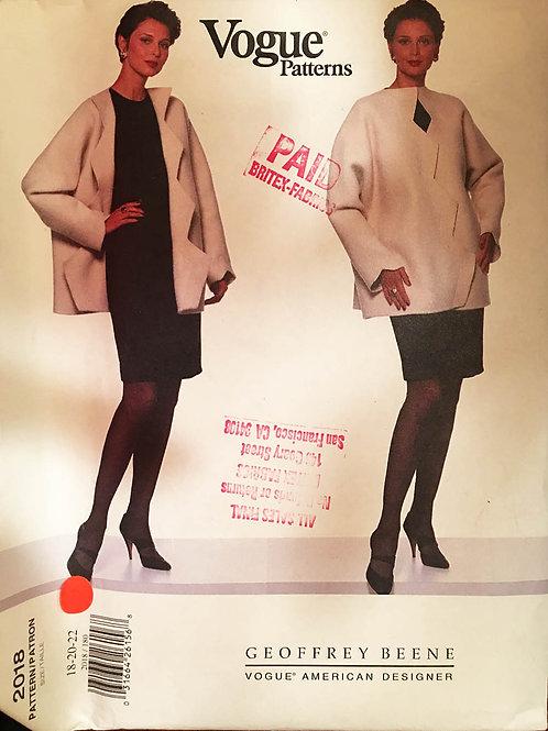 Vogue Designer 2018. Geofffrey Beene . Plus size jacket/dress