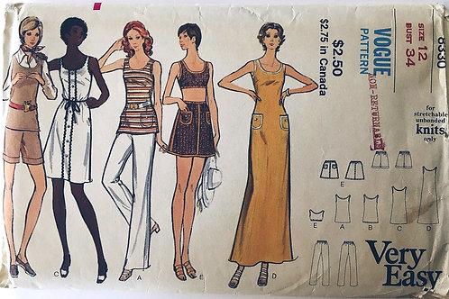 Vogue 8330 Dress, Tunic, Skirt, Pants and Shorts 1970s