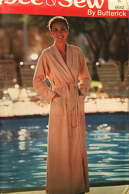 Butterick 6642. Classic terrycloth wrap robe