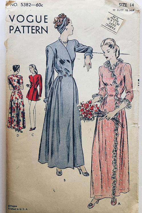 Vogue 5382 dressing gowns