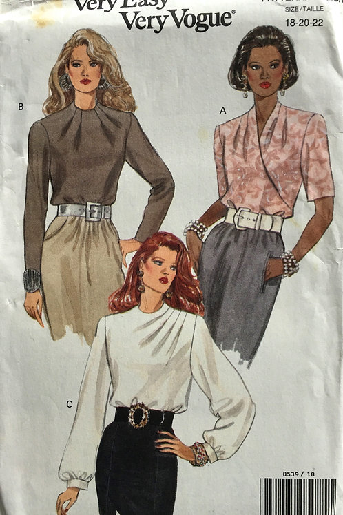 Vogue 8539 Three career blouses