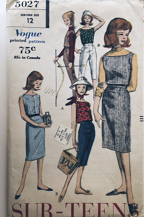 Vogue 5027 separates for young girls 1960s