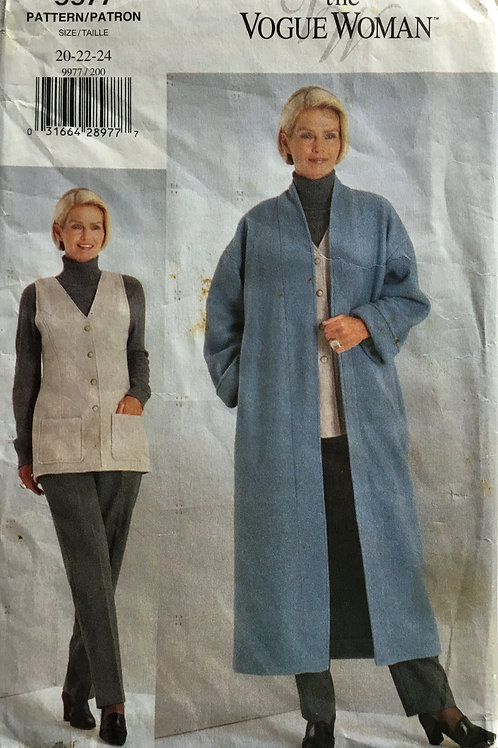 Vogue Woman 9977. Coat, Jacket and pants