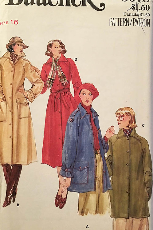 Butterick 5078 circa 1970s; Coat & Jacket.