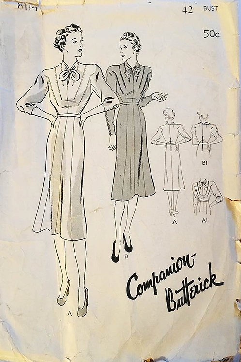 """Butterick 8114. """"Companion Butterick"""" pattern from the 1930s."""