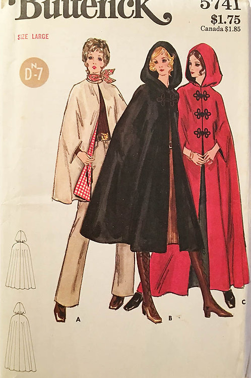 Butterick 5741, Great witches cape from the 1970s.
