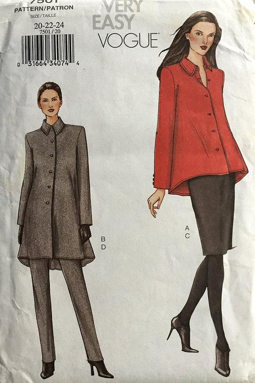 Vogue 7501 Easy Vogue flared jacket