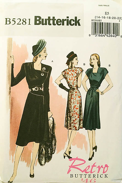 Butterick B5281. Re-issue 1946 dress pattern.