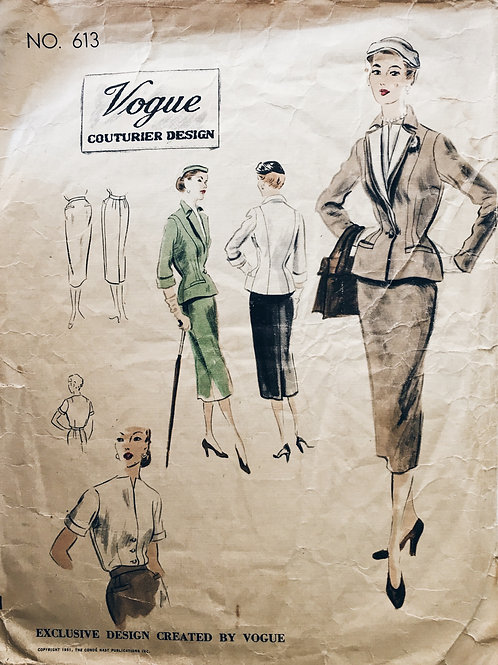 Vogue Couturier 613 Dior new look style suit