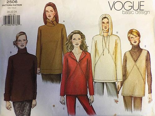Vogue 2506 Stylish sweatshirts.