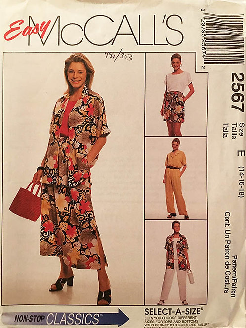 McCall's 2567. Fun and easy vacation wardrobe.