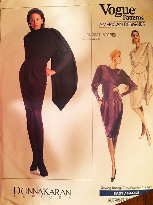 Vogue 2215 Designer Donna Karan dress and shawl