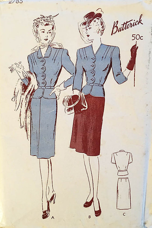 Butterick 2785 forties ladies day suit