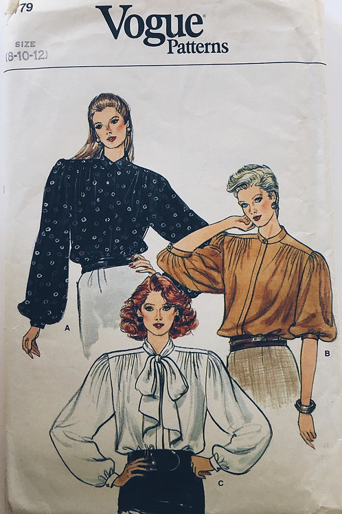 Vogue 8779 Three loose floaty blouse variations.