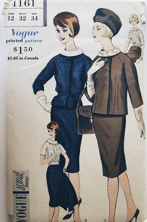 Vogue 4161 special design suit retro  60s