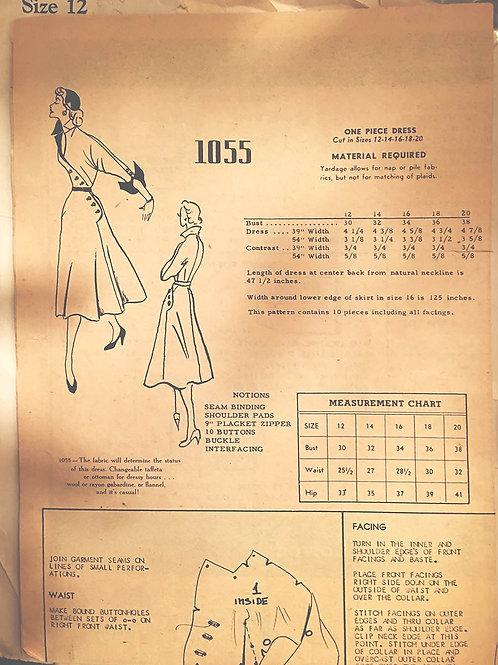 Modes Royale 1055, Vintage 1950s design in original envelope