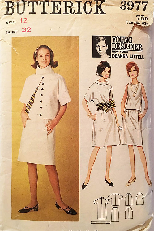 Butterick 3977. Deanna Littel 1960s dress, skirt, top, shell and jacket.