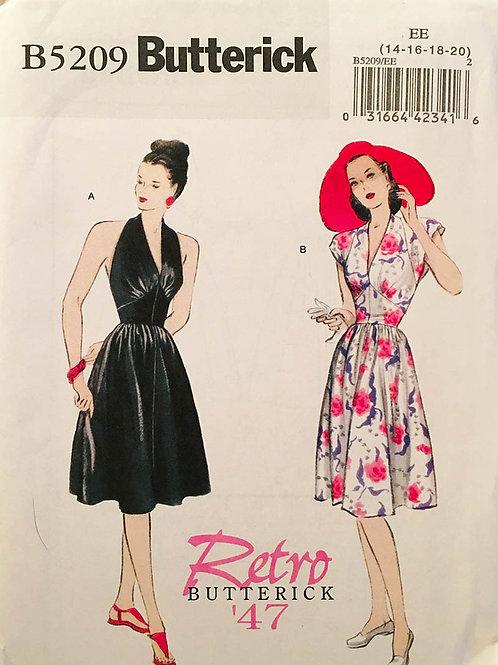 Butterick 5209. Re-issue 1947 sundress design.