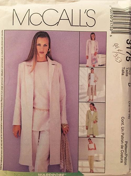 McCall's 3175. Carefree minimalist wardrobe.