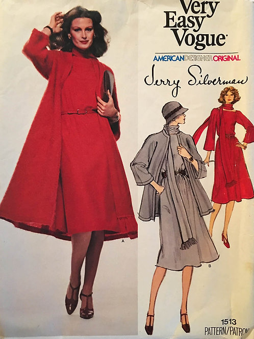 Vogue 1513 Jerry Silverman Simple and Elegant dress and coat