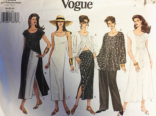 Vogue 1363 Dress, Top, Skirt & Pants