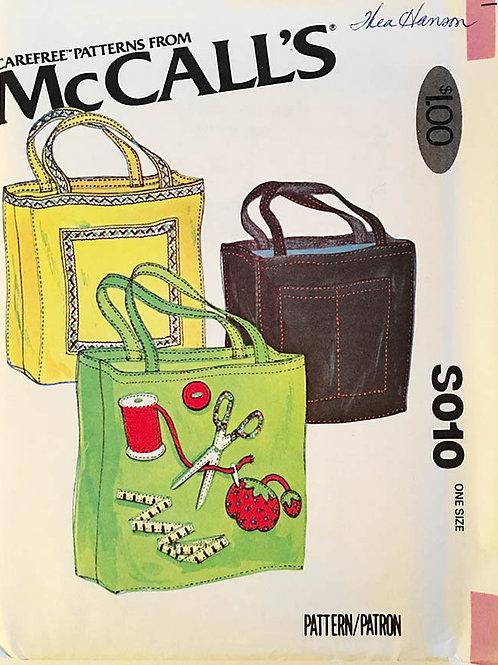 McCall's S010 Vintage tote bag.
