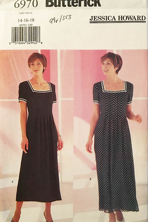 Butterick 6970. Jessica Howard. Pull-over dress