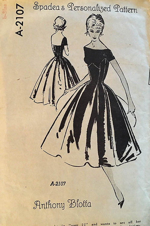 Spadea A2107 RARE Anthony Blotta dress design from 1958.