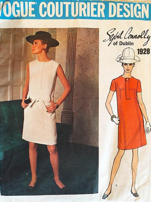 Vogue Couturier 1928, Sybil Connelly mod 1968 dress