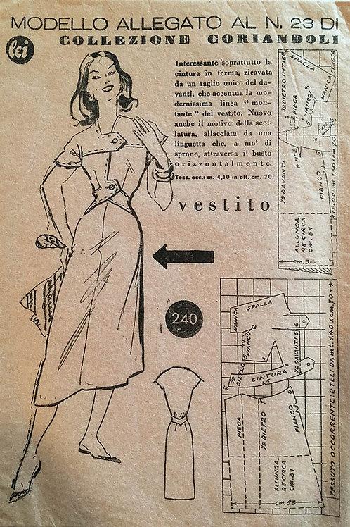 Modello Allegato No. 23, Italian designed dress circa 1950s.