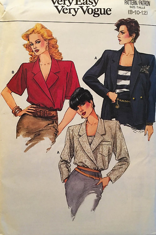 Vogue 9785. Camisole and Double-Breasted shirt/jacket